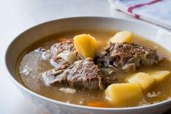 Turkish Kuzu Haslama/тушёное мясо овечки с картошками и морковью Стоковые Изображения RF