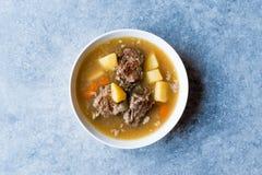 Turkish Kuzu Haslama/тушёное мясо овечки с картошками и морковью Стоковое Изображение