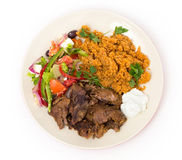 Turkish lamb meal from above Royalty Free Stock Photo