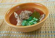 Turkish lamb soup Stock Photos