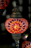 Turkish lamp 1. View of nice hand-made turkish lamp Stock Photos
