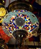 Turkish lamp 2. View of nice hand-made turkish lamp Stock Image