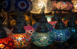 Turkish lamp assortment Royalty Free Stock Photo