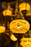 Turkish Lamp. Golden Decorative Turkish Lamp Market stock images