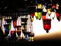 Turkish Lamps. Hanging Turkish Lamps at Grand Bazaar, Istanbul Stock Image