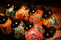 Turkish lamps in the bazaar Stock Image