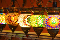 Turkish lamps Royalty Free Stock Photography