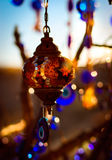 Turkish lamps. Hanging on a tree in Cappadocia Stock Photos