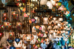 Turkish lamps for sale Stock Photography
