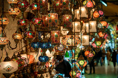 Turkish lamps for sale Royalty Free Stock Image