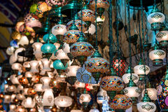 Turkish lamps for sale Royalty Free Stock Photography