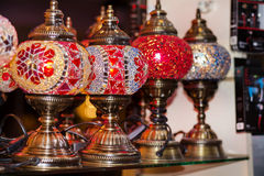 Turkish lamps for sale in the Grand Bazaar Stock Images