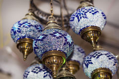 Turkish lamps for sale in the Grand Bazaar Stock Photos