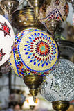 Turkish lamps for sale in the Grand Bazaar Royalty Free Stock Photography
