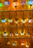 Turkish lamps for sale in the Grand Bazaar royalty free stock photos