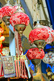 Turkish lamps for sale in the Grand Bazaar royalty free stock images