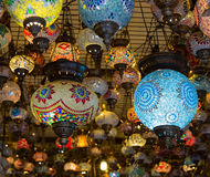 Turkish lamps for sale in the Grand Bazaar, Istanbul, Turkey Stock Image