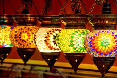 Turkish lamps Royalty Free Stock Image
