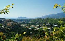 Turkish landscape near Alanya city Stock Photo