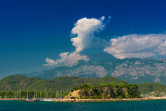 Turkish landscape with Olympos mountain Royalty Free Stock Photography