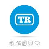 Turkish language sign icon. TR translation. Stock Photo