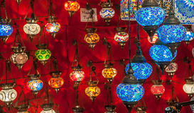 Turkish lanterns at Grand Bazaar, Istanbul Royalty Free Stock Images