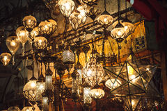 Turkish lanterns on the Grand Bazaar in Istanbul, Turkey Stock Photos