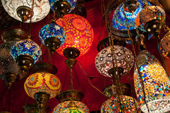 Turkish Lanterns on the Grand Bazaar in Istanbul, Turkey Stock Image