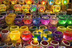 Turkish lanterns at Istanbul market, Turkey Stock Image