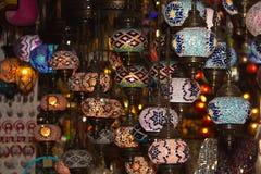 Turkish lanterns. Mosaic, flashlights on the market, oriental flavor Royalty Free Stock Images
