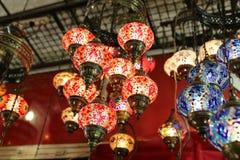 Turkish Laterns в грандиозном базаре Стоковые Изображения