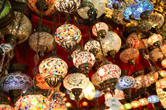 Turkish Laterns в грандиозном базаре Стоковое Изображение RF