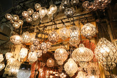 Turkish Laterns в грандиозном базаре Стоковые Фотографии RF