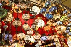 Turkish Laterns в грандиозном базаре Стоковое Изображение