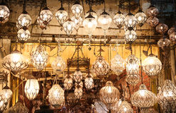 Turkish Laterns in Grand Bazaar Royalty Free Stock Photography