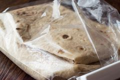 Turkish Lavash Durum Flat Bread for Gozleme or Traditional Wraps. Traditional Food Stock Images