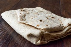 Turkish Lavash Durum Flat Bread for Gozleme or Traditional Wraps. Traditional Food Royalty Free Stock Photos