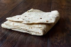 Turkish Lavash Durum Flat Bread for Gozleme or Traditional Wraps. Traditional Food Stock Photo
