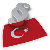 Turkish law - 3d rendering Royalty Free Stock Photo
