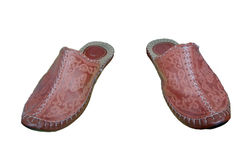Turkish leather slippers Royalty Free Stock Photo