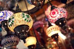 Turkish lights. Colourful lightts on turkish market Stock Photography