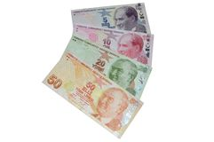 Turkish lira banknotes currency Royalty Free Stock Photos