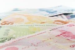 Turkish Lira Banknotes Stock Photos