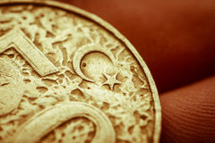 Turkish coin , macro  Royalty Free Stock Photos
