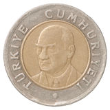 Turkish Lira coin Royalty Free Stock Photo