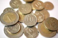 Turkish Lira coins Royalty Free Stock Photo