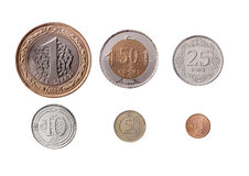 Turkish Lira Coins Set Stock Photography