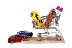 Turkish Lira Coins with Toy Cars Finance Concept Royalty Free Stock Photo