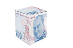 Turkish Lira Cube Stock Photo