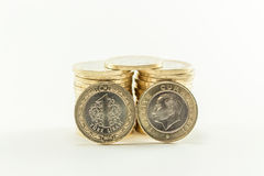 Turkish Lira - Iron Money. 1 TL. Iron (corrupt) money. Official Currency Republic of Turkey, Turkish Lira. $ 1 Stock Photos